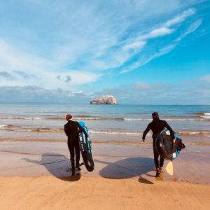 seacliff beach east lothian paddle boarding Outlander 800