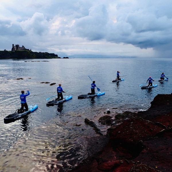 paddle boarding sup tantallon castle scotland 800