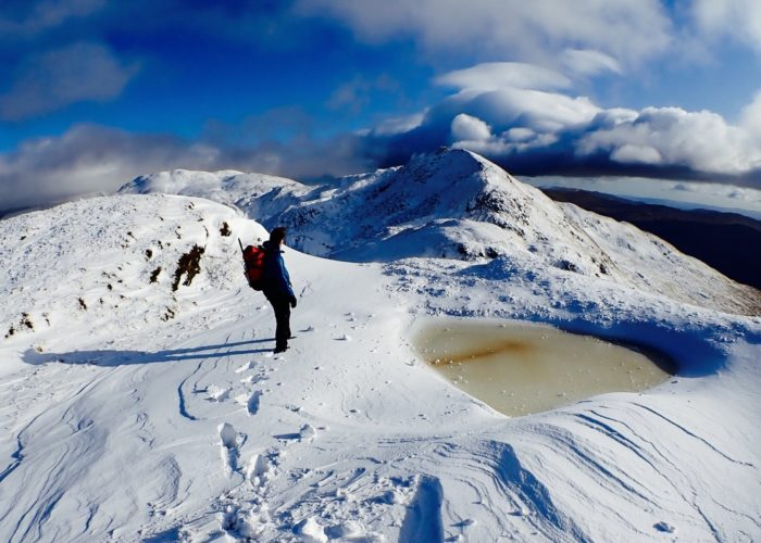 Meall nan Tarmachan in winter Scotland