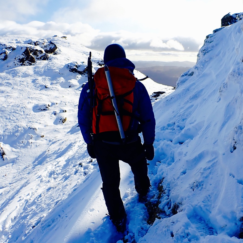 Winter mountaineering in the scottish mountains