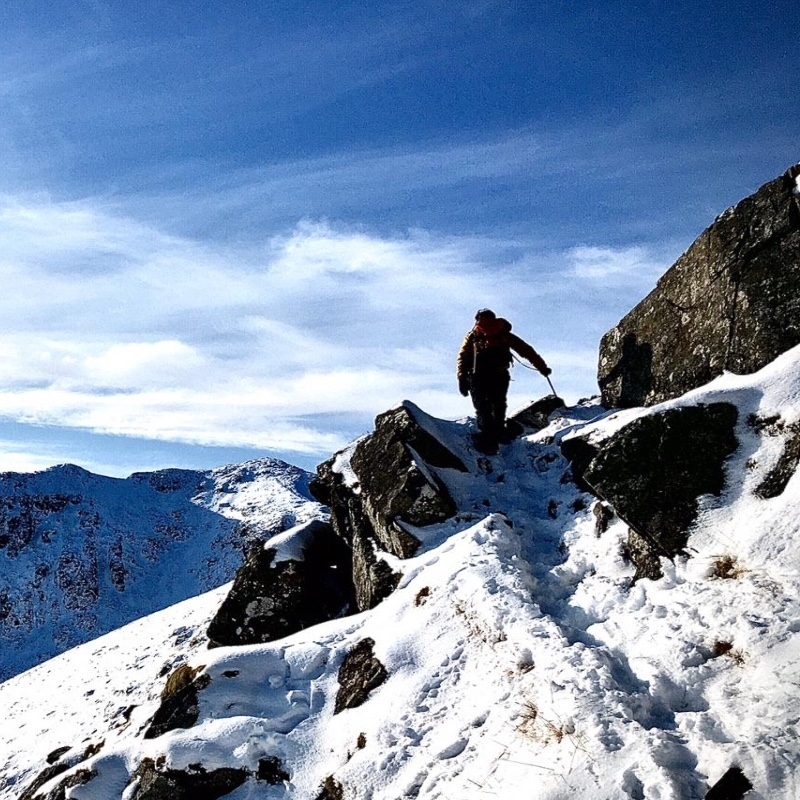 Winter mountaineering on Stob Coire nan lOCHAN Glen Coe