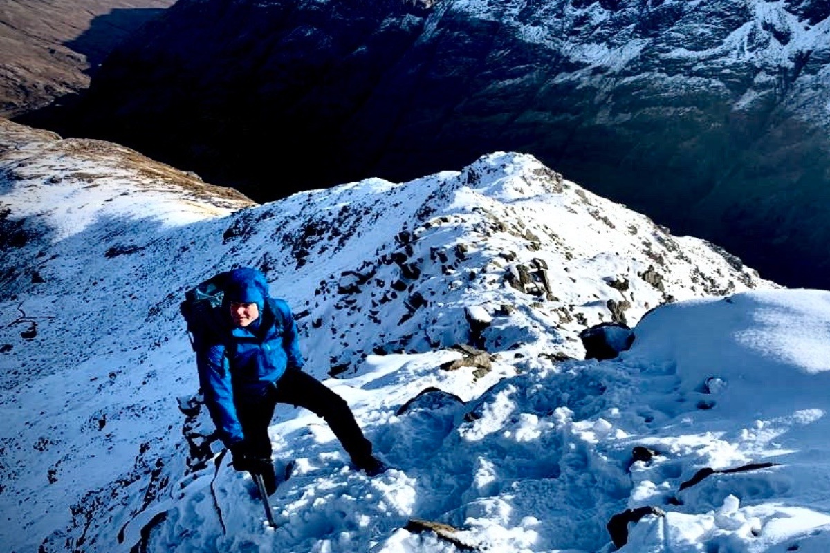 winter ridge mountaineering in Glen Coe