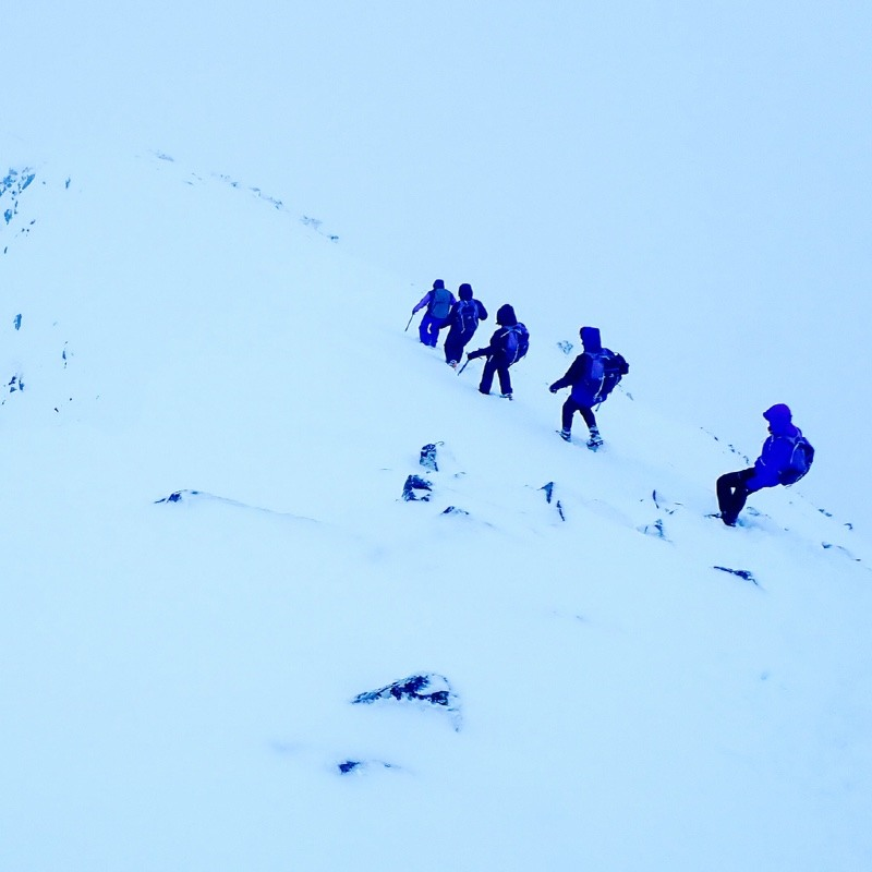 winter climbing Buachaille Etive Mor Glen Coe Scotland