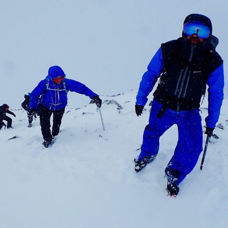 winter mountaineering Buachaille Etive Mor Glen Coe Scotland