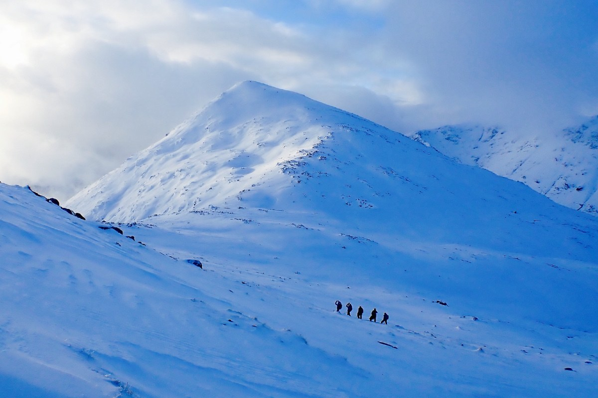 winter mountaineering Glen Coe Buachaille Etive Beag Scotland