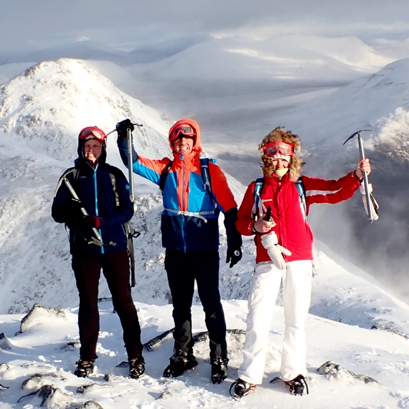 Buachaille Etive Mor Glen Coe Scotland winter climbing