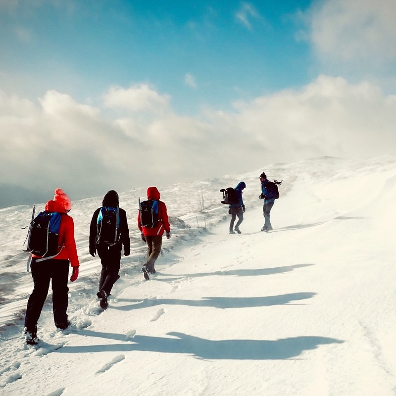 winter mountaineering Ben Lawers Tarmachan Ridge