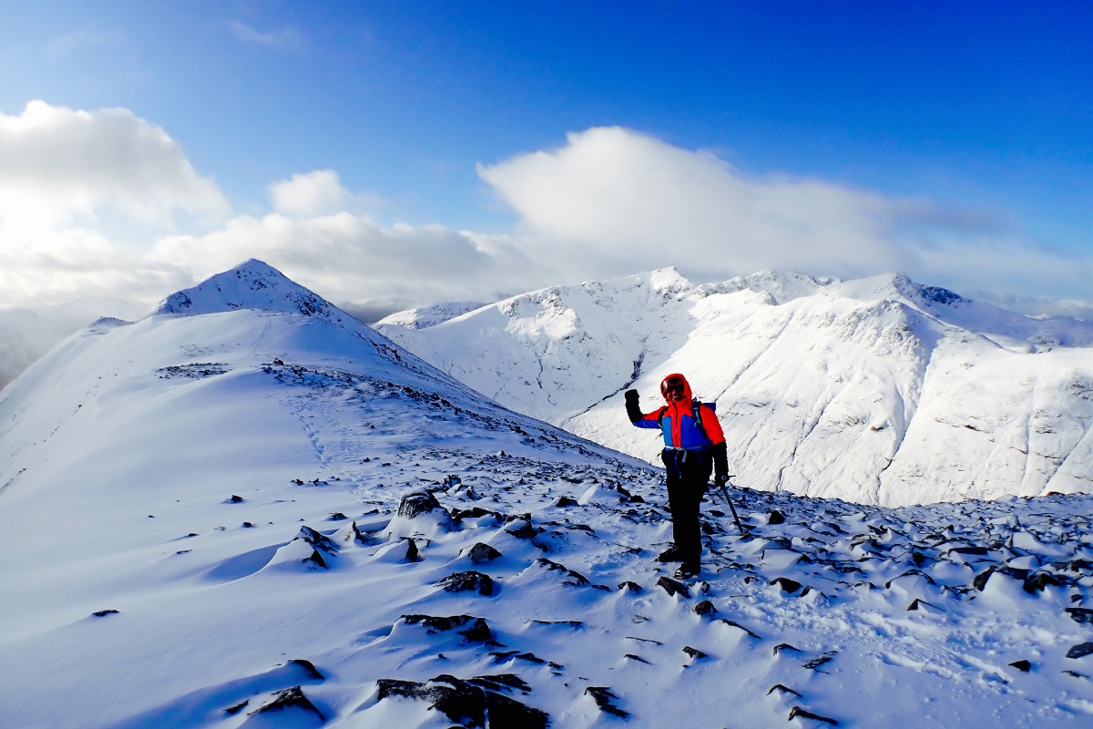 winter mountaineering Stob Dubh Glen Coe Scotland 2