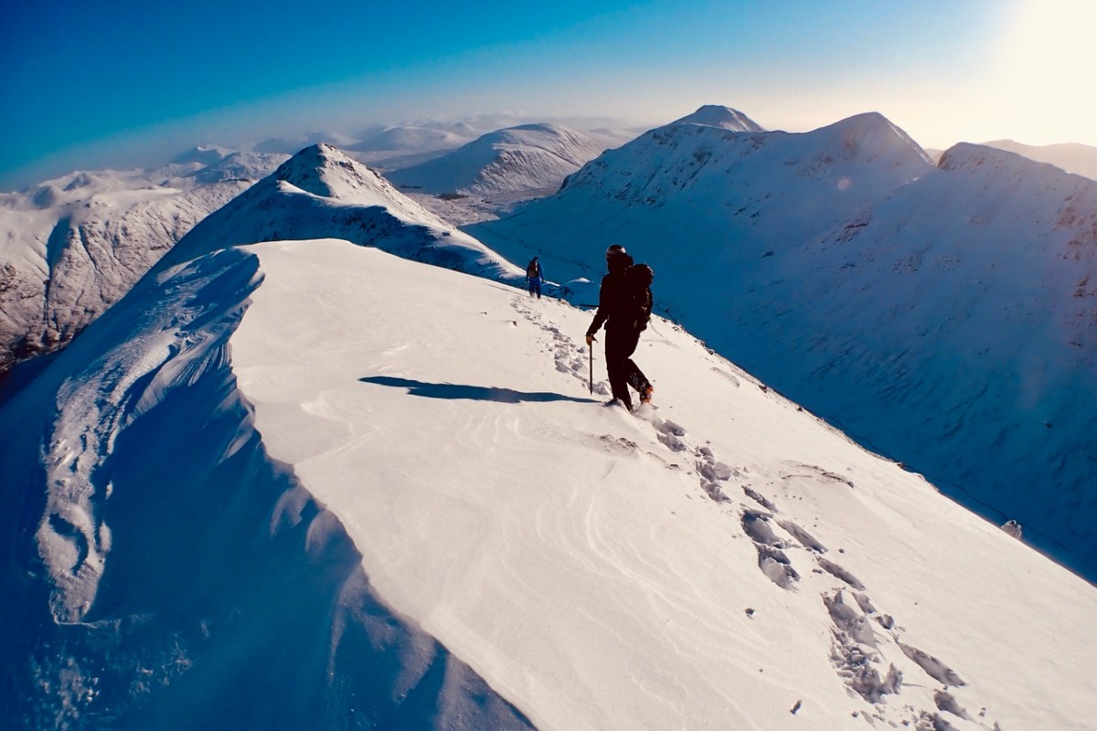 Ocean Vertical winter mountaineering Glen Coe