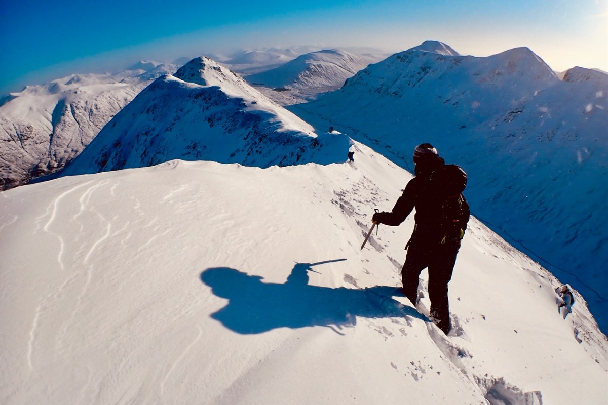 Ocean Vertical winter skills training in Glen Coe