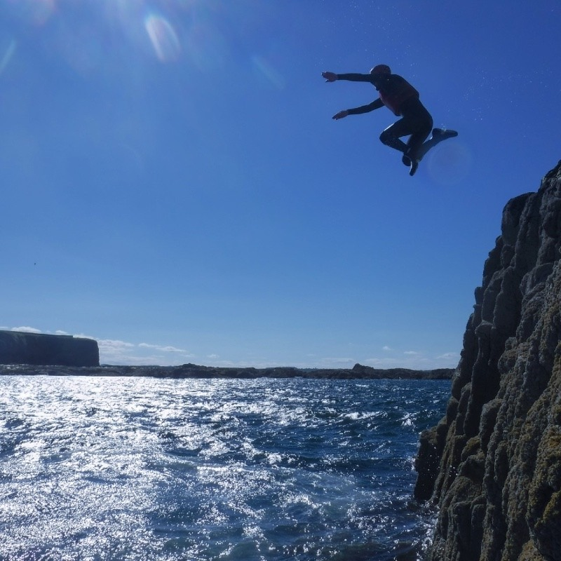 Coasteering in East Lothian with Ocean vertical Dunbar