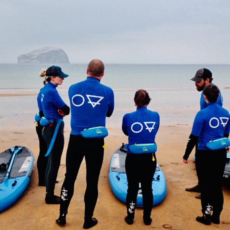 paddle boarding SUP adventure skills and safety Seacliff Beach East Lothian and Bass Rock