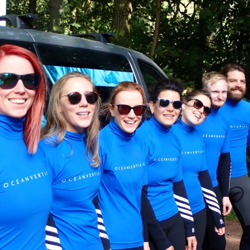 paddle boarding group adventure in East Lothian by North Berwick and Dunbar