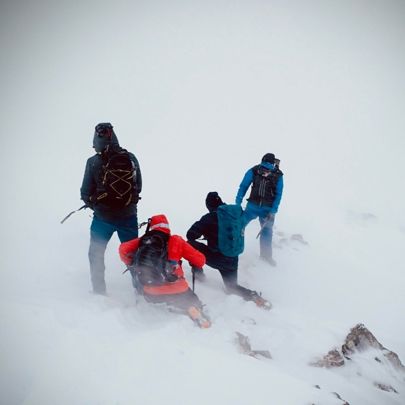 winter mountaineering skills on Buachaille Etive Beag Glen Coe Scotland 2