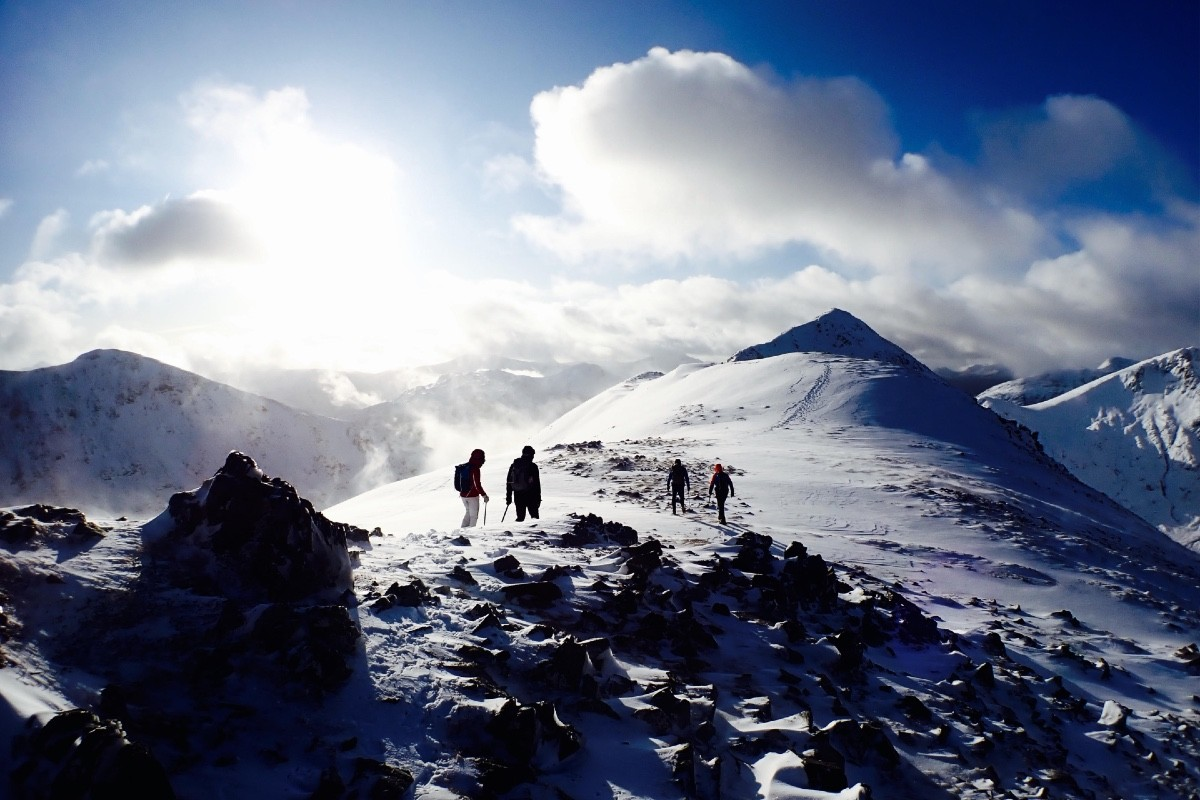 winter skills in Glen Coe navigation and avalanche awareness 2