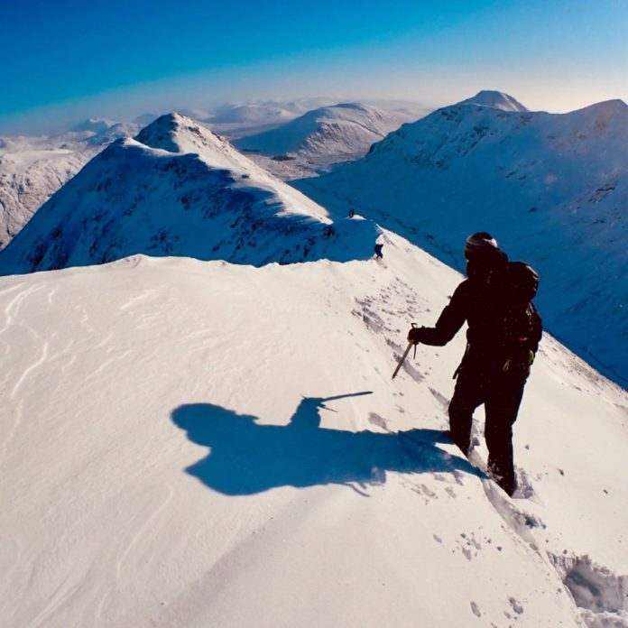 Introduction to winter skills and climbing with Ocean Vertical on Buachaille Etive Beag in Glen Coe Scotland