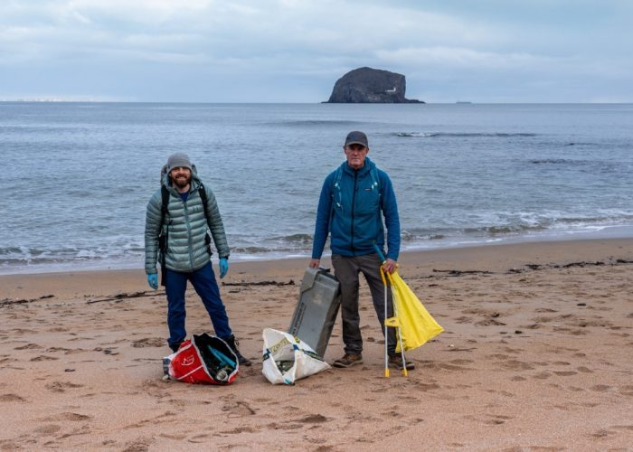 anti black friday beach clean seacliff beach east lothian scotland