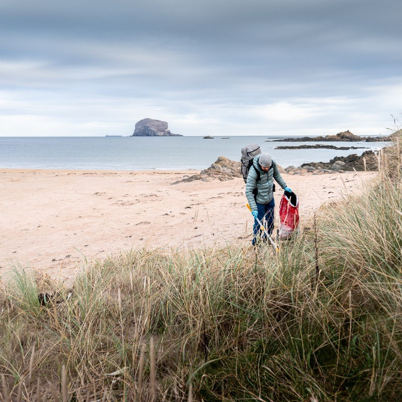 recycling beach clean with caledonian horticulture and ocean vertical north berwick to belhaven bay east lothian
