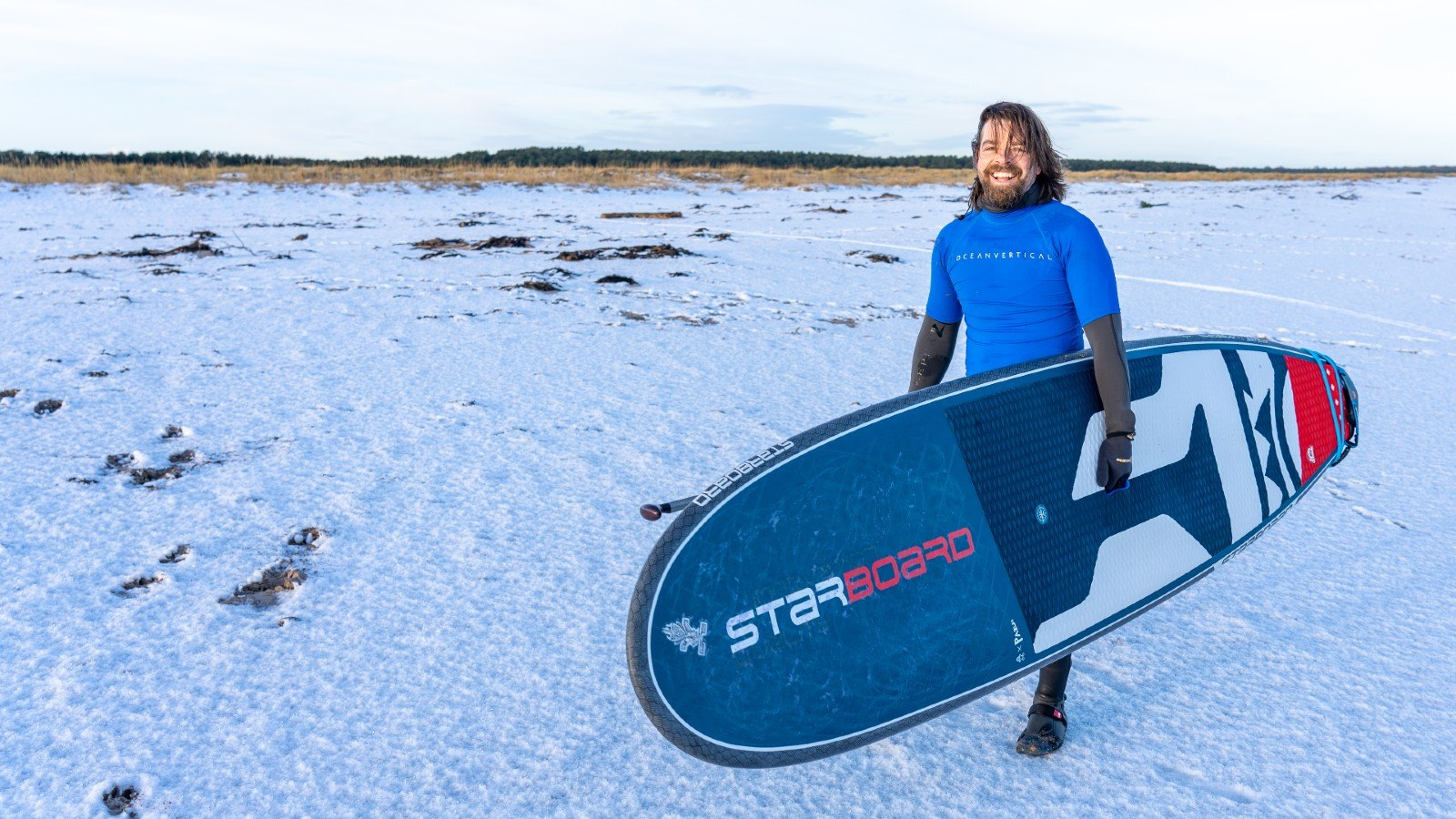 starboard SUP with ocean vertical belhaven bay east lothian scotland