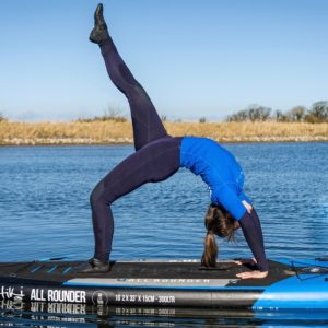 ASI SUP yoga courses with paddle boards in east lothian