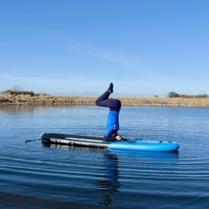 SUP Yoga at Auldhame by Seacliff East Lothian with Ocean Vertical