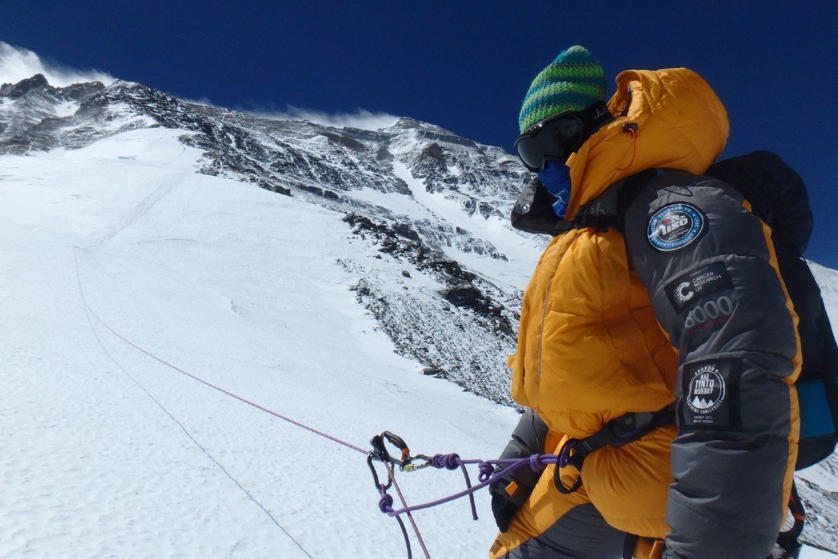Mollie Hughes on the north side of Mount Everest 2017