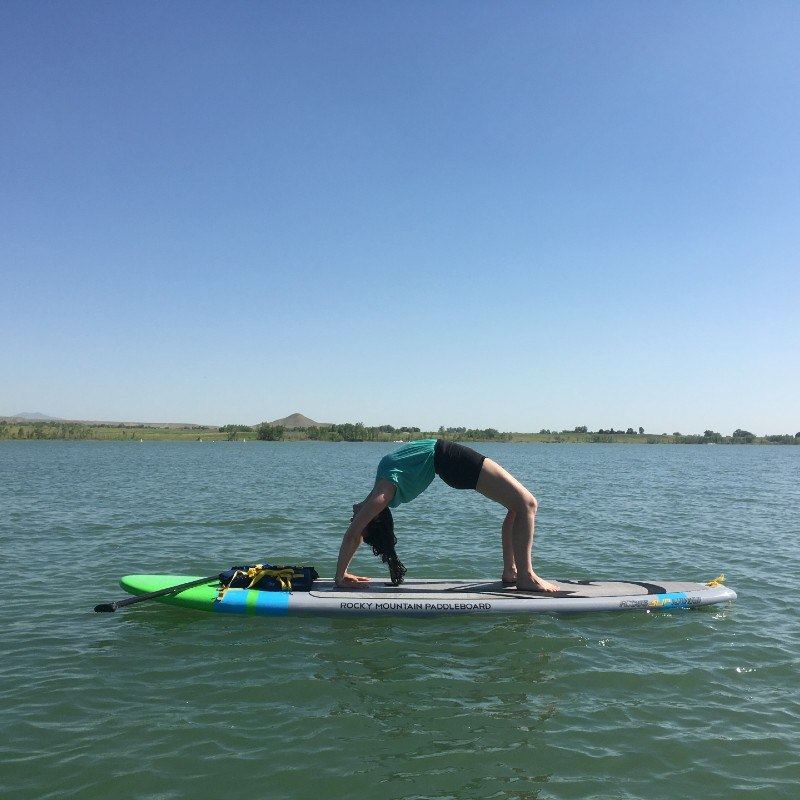 3 first sup yoga class session holiday new unique experience trying new things wheel pose 1