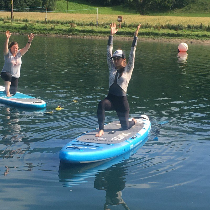 4 paddle board sup yoga teacher training with the academy of surfing instructore ASI 1