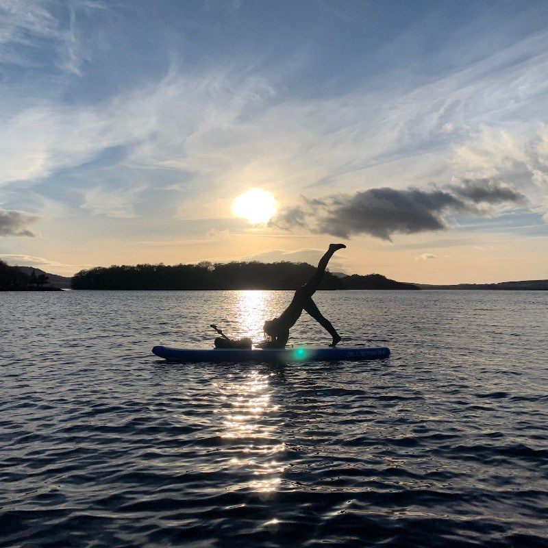 5 loch lomond january cold water first time trying new board sup yoga three legged dolphin pose