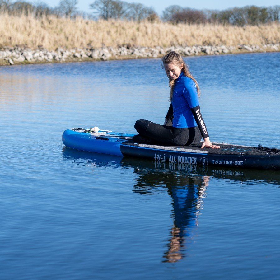 SUP Yoga and paddle boarding by seacliff beach in east lothian